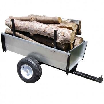 Remorque basculante en acier galvanisé - 450 kg
