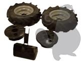 LAZER S 800 BS - Kit labour - charrue ½ tour - Roues 5,00x10 - Masses de roues - Moyeux demi-tour - Contrepoids avant