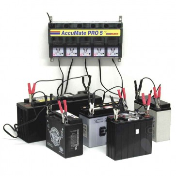 Optimate AMPRO5  - Chargeur de batteries pour 5 batteries 12V – AGM -  GEL ou conventionnelles