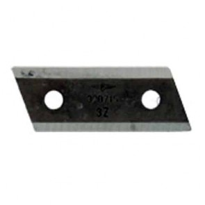 Couteau de broyeur d'origine pour AL-KO modèles H1600, TCS2200, BV2200, H2200TCS et TCS3200 - L: 82,7mm, l: 30mm, Ø: trou: 8,6mm, entraxe: 45mm. Remplace origine: 320715