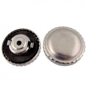 Bouchon à essence universel en métal avec aération et ventilation à fermeture baïonnette Ø ext: 60mm