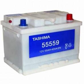 Batterie de démarrage TASHIMA 12v - 55Ah + à droite L: 242mm - l: 175mm - H: 175mm