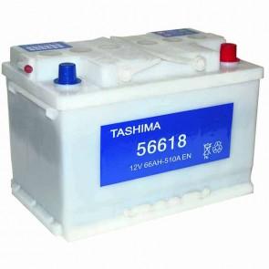 Batterie de démarrage TASHIMA 12v - 66Ah + à droite L: 278mm - l: 175mm - H: 190mm