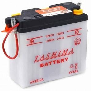 Batterie Plomb 6v 4Ah - L: 102 - l: 48 - H: 96mm + à gauche pour motos (livrée sans acide)