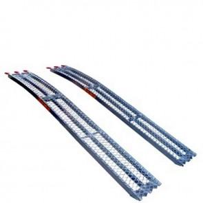 Jeu de 2 rampes courbées alu L: 226cm L: 30 cm, profil antidérapant d'une capacité maximum de 680kg/paire