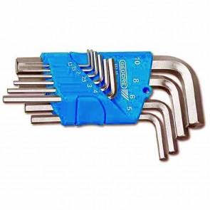 Jeu de clés mâles coudées au dimensions métriques 1,3 - 1,5 - 2 - 2,5 - 3 - 4 - 5 - 6 - 8 - 10