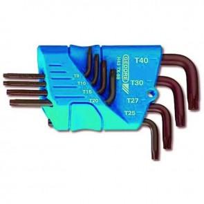 Jeu de clés mâles coudées TORX - T10 - T15 - T20 - T25 - T27 - T30 - T40 - T45