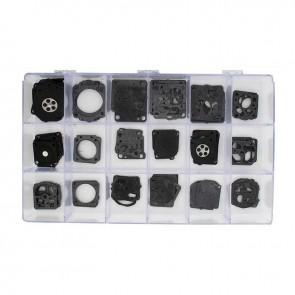 Coffret assortiment de membranes & Joints adaptable pour carburateurs ZAMA C1 - C1S - C2. Contient 85 pièces