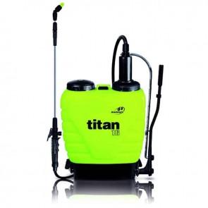 Pulvérisateur à dos MAROLEX® modèle TITAN 16, d'une capacité de 16 litres. Avec lance télescopique à jet directionnel. Dimensions LxHxP: 410x610x185mm. Poids à vide: 4,15kg