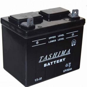 Batterie pour tondeuse autoportée 12v - 32Ah - L: 196 - l: 131 - H:184mm + à gauche (livrée sans acide)