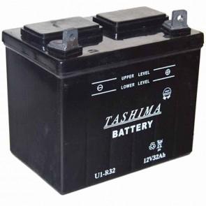 Batterie pour tondeuse autoportée 12v - 32Ah - L: 196 - l: 131 - H:184mm + à droite (livrée sans acide)