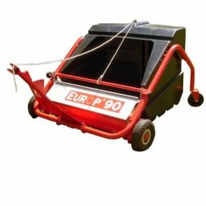 Balai-ramasseur trainé professionnel - largeur de travail 90 cm - Bac 300 litres