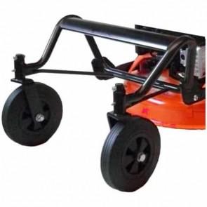 LAZER KIT2W - Accessoire débroussailleuse sur roues - Kit 2 roues pivotantes avant avec châssis spécial herbes hautes