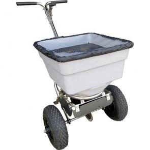 Epandeur de sel à pousser avec rotor et déflecteur - 45 kg
