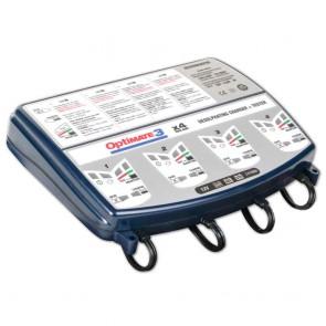 Optimate OM3X4  - Chargeur de batteries de 12 V - 30 Ah - pour 4 batteries