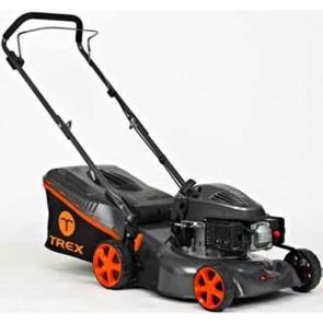 TREX G42 P-A - Tondeuse à essence - châssis en acier - Coupe 42 cm - Mulching (Tondeuse)