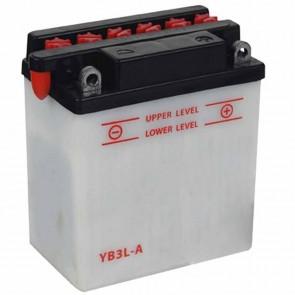 Batterie plomb renforcée 12V 3Ah  - L: 98 - l: 56 - H: 110mm + à droite pour motos (livrée sans acide)