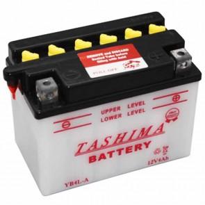 Batterie plomb renforcée 12V 4Ah - L: 120 - l: 70 - H: 92mm + à droite pour motos (livrée sans acide)