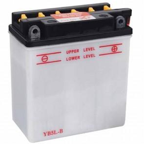 Batterie plomb renforcée 12V 5Ah - L: 120 - l: 60 - H: 130mm + à droite pour scooter motos (livrée sans acide)