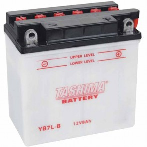 Batterie plomb renforcée 12V 8Ah - L: 135 - l: 75 - H: 133mm + à droite pour motos motoneige (livrée sans acide)