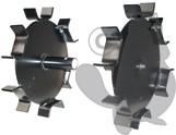 LAZER NS25 & PB25 - Paire de roues en fer