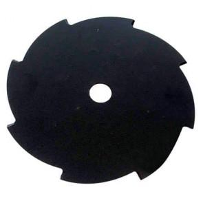 Lame acier pour débroussailleuse 8 dents - Coupe (mm): 255 - Alésage (mm): 25.4 - Epaisseur (mm): 2