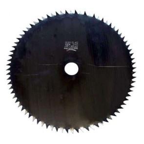 Lame acier pour débroussailleuse 80 dents - Coupe (mm): 250 - Alésage (mm): 25.4 - Epaisseur (mm): 1.6