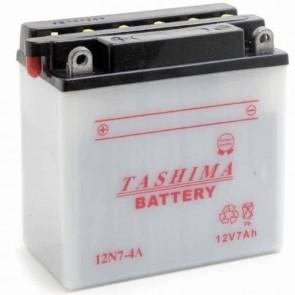 Batterie Plomb 12v 7Ah - L: 135 - l: 75 - H: 133mm + à gauche pour scooter motos motoneige (livrée sans acide)