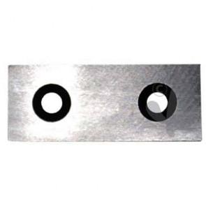 Couteau pour broyeur XLZSHR2505. Longueur: 64mm, Largeur: 25,5mm, Ø trou: 7mm, entraxe: 35mm.Remplace origine: SHR2505-60