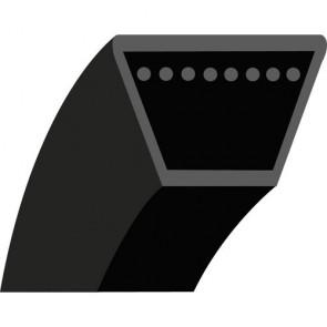 Z19 : Courroie lisse trapézoïdale pour Tondeuses débroussailleuses DORIGNY Modèle DORI 600 - Longueur extérieure: 528 mm - Section: 10x6 mm - N° Origine: 1449