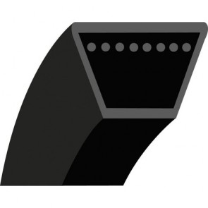 Z27 : Courroie lisse trapézoïdale pour Tondeuses autotractées CASTELGARDEN Pour modèles CI484TR & TRE, GB464, 504TR, 504TRE, NC464, 504TR, TE25, TM56, TM57, TM58, TM61, TM62, TM66R, TD484TR & TRE, CA484WTR & WTRE - Longueur extérieure: 723 mm - Section: 1