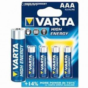 Lot de 4 piles alcalines - 1,5v - VARTA - Type AAA