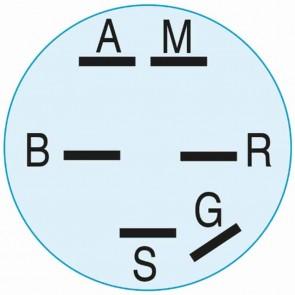 Contacteur à clé 3 positions, 6 bornes adaptabless pour JOHN DEERE modèles S910 et S930 à montage avant - 108, 112, 116, 316, 318, 420 ,GS25, GS30, GS45, GS75, HD45,. Remplace origine: AM38227