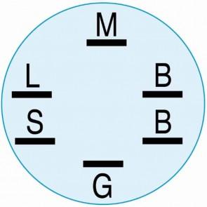 Contacteur à clé 4 positions 6 bornes adaptabless sur MURRAY à moteur avant de 1992 à ce jour. Remplace origine: 92377