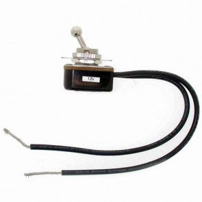 Contacteur à Bascule universel à visser - Ø: 12mm (livré avec 15 cm de fil électrique)