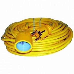 Rallonge électrique PVC - Longueur: 50 m - 3 × 1,5mm2