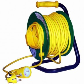 Enrouleur électrique câble en PVC. Longueur: 25m - 3x1,5mm²