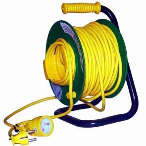 Enrouleur électrique câble en PVC. Longueur: 50 m -  3 x 1,5 mm².