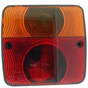 Feu arrière droit adaptable - Longueur: 105mm - Hauteur: 95mm