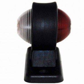 Feu latéral rouge / blanc adaptable - Longueur: 45mm - Hauteur: 90mm