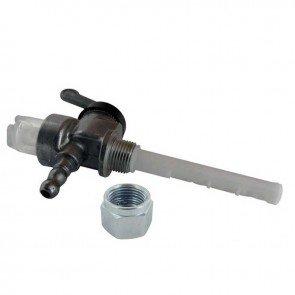 Robinet à essence métallique avec Filtre pour JLO - Filetage: M12 x 100 Gauche. Remplace origine: 102-21-319-010
