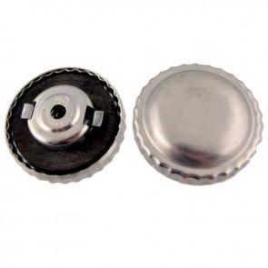 Bouchon à essence universel en métal avec aération et ventilation à fermeture baïonnette - Ø ext: 30mm