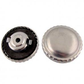 Bouchon à essence universel en métal avec aération et ventilation à fermeture baïonnette Ø ext: 50mm