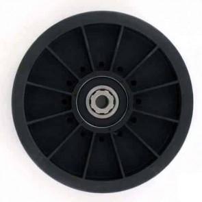 Poulie à gorge plate sur roulement adaptable pour SCAG - H: 30,16mm, Ø: ext: 87,31mm, Ø int: 9,52mm. Remplace origine: 48201
