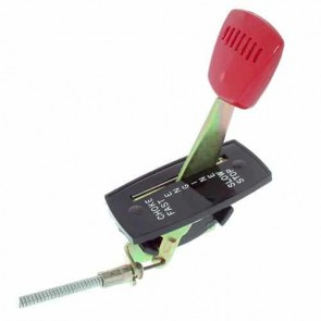 Commande d'accélération adaptable pour tondeuses SNAPPER avec moteur ROBIN/WISCONSIN. Remplace origine: 18780 - Longueur câble: 1159 mm Longueur gaine: 1092