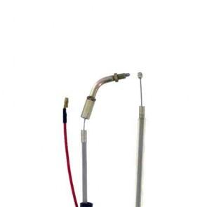 Câble d'accélération adaptable pour débroussailleuse SHINDAIWA modèle C35. Remplace origine: 20011-83100 Longueur câble: 1270 mm Longueur gaine: 1152 mm