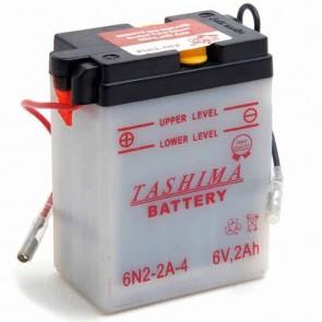 Batterie Plomb 6v 2Ah - L: 70 - l: 47 - H: 96mm + à droite pour scooter motos (livrée sans acide)