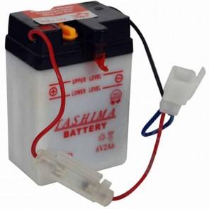Batterie Plomb 6v 2Ah - L: 70 - l: 47 - H: 104mm + à gauche (livrée sans acide) Dégazage au dos