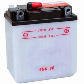 Batterie Plomb 6v 6Ah - L: 99 - l: 57 - H: 120mm + à droite pour motos (livrée sans acide)