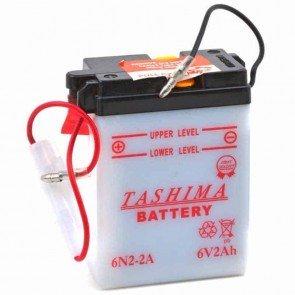 Batterie Plomb 6v 2Ah - L: 70mm - l: 47mm - H: + à droite pour motos (livrée sans acide)